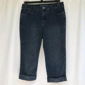 Gloria Vanderbilt Denim Capri Blue Jeans Sz 8